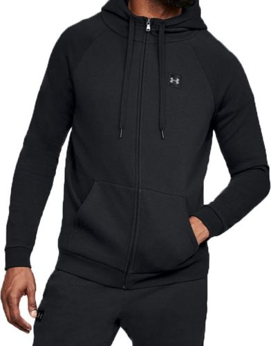 Under Armour Bluza męska Rival Fleece Fz Hoodie czarna r. L (1320737-001)