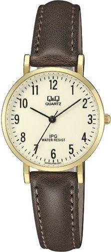 Zegarek Q&Q QZ03-103 Klasyczny damski brązowy