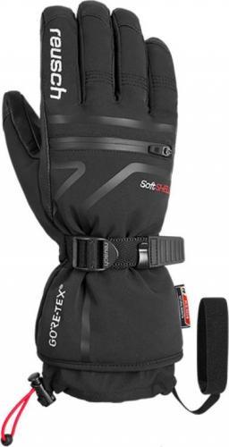 REUSCH rękawice narciarskie męskie Down Spirit GTX czarno-białe r. 8 (48/01/355/701/8)