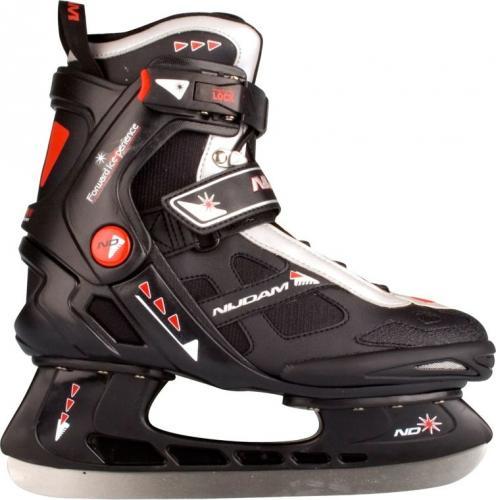 Nijdam Łyżwy hokejowe 3352 czarno-czerwone r. 41