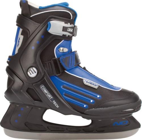 Nijdam Łyżwy hokejowe 3351 czarno-niebieskie r. 39