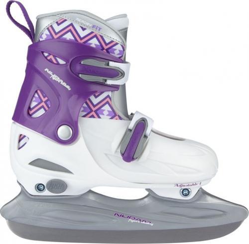 Nijdam Łyżwy hokejowe dziecięce 3022 fioletowo-białe r. 38-41