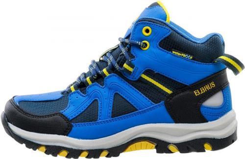 Elbrus Buty dziecięce Plaret Mid Wp Jr Navy/lake Blue/yellow r. 28