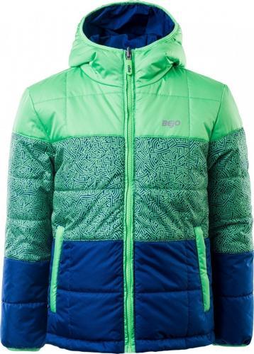 BEJO Kurtka narciarska dziecięca YOGI JRB IRISH GREEN/PRINT/BLUE DEPTHS r. 158 cm
