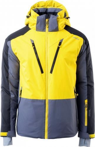 Brugi Kurtka narciarska męska 4ap9 Syg-grey/ Yellow/ Black r. L