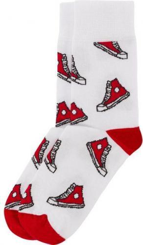 Bobby Sox Skarpety unisex Czerwone Cichobiegi biało-czerwone r. 35-38
