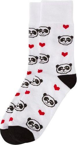 Bobby Sox Skarpety unisex Panda Love białe r. 35-38