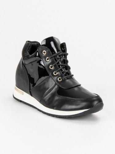 J. Star Sneakersy sportowe na koturnie czarne r. 36