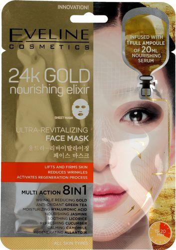 Eveline 24k Gold Ultra-rewitalizująca maska w płacie 8w1 1 szt.
