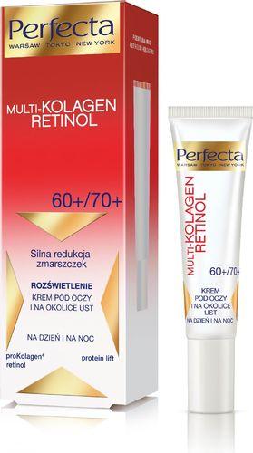 Perfecta Perfecta Multi-Kolagen Retinol 60+/70+ Krem redukujący zmarszczki i rozświetlający pod oczy i na powieki  15ml