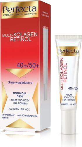 Perfecta Perfecta Multi-Kolagen Retinol 40+/50+ Krem redukujący cienie i wygładzający pod oczy i na powieki  15ml
