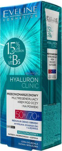Eveline Eveline Hyaluron Clinic 50+/70+ Przeciwzmarszczkowy multiregenerujący Krem pod oczy  20ml