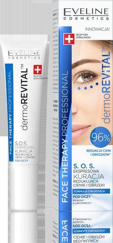 Eveline Krem pod oczy Kremace Therapy Professional Kuracja S.O.S. redukująca cienie i obrzęki 15ml