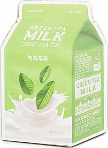 Apieu Milk One-pack Soothing kojąca maseczka Green Tea 20g
