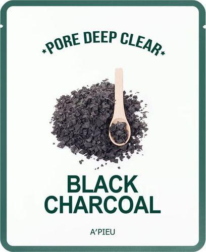 Apieu Pore Deep Clear Black Charcoal Oczyszczająca maseczka 15g