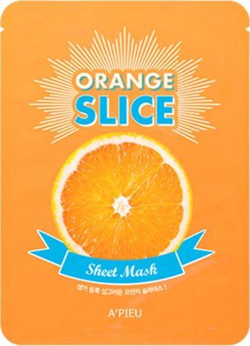 Apieu Sheet Mask Orange Slice Oczyszczająco-rozjaśniająca maseczka 20g