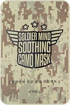 Apieu Soldier Mind Soothing Camo Mask Odżywczo-łagodząca maseczka 15g