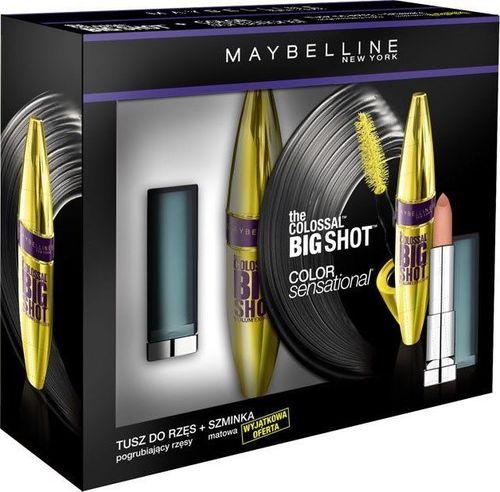 Maybelline  MAYBELLINE_SET The Colossal Big Shot Mascara tusz do rzęs pogrubiający 10,7ml + Color Sensational pomadka matowa 930 Nude Embrace 25g