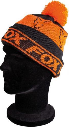 FOX Black/Orange - Lined Bobble Hat (CPR991)