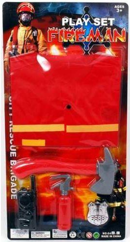Aster Zestaw strażaka  z kamizelką i gaśnicą przebranie karnawałowe dla chłopca