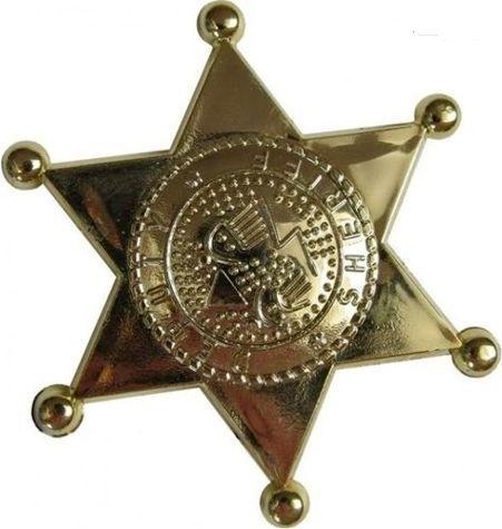 Aster Gwiazda , odznaka szeryfa złota do zabawy