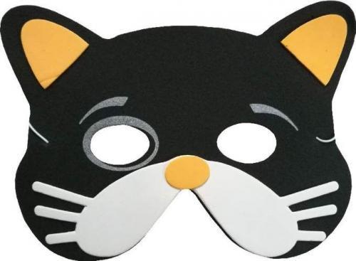 Aster Maska piankowa dla dzieci - kot czarny (308843-uniw)