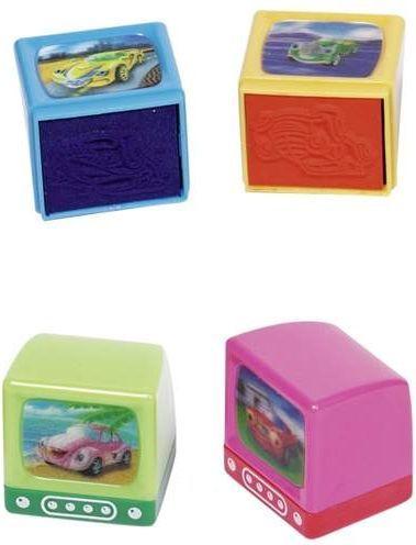 Goki Pieczątki - Stempelki dla dzieci z motywem aut cena dotyczy 1 szt