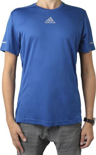 Adidas Koszulka męska Sequencials Climalite Run Tee niebieska r. S (AI7489)