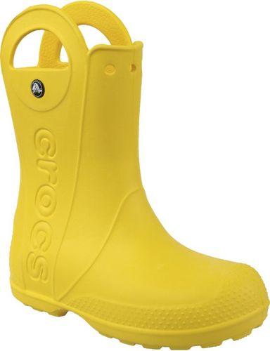 Crocs buty dziecięce Handle Rain Boot żółte r. 34-35 (12803)