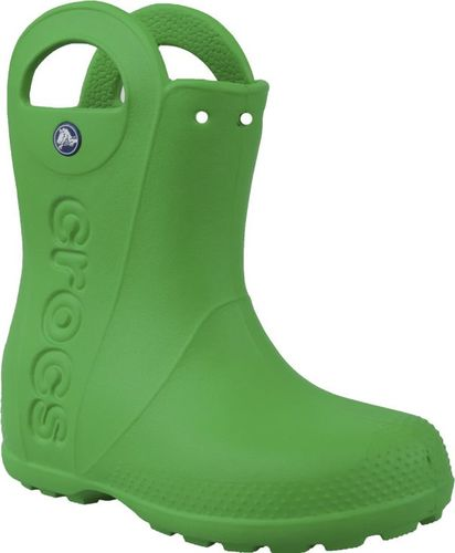 Crocs buty dziecięce Handle Rain Boot zielone r. 34-35 (12803)