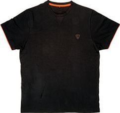 FOX Black / Orange Brushed Cotton T-Shirt - roz. XL (CPR732)