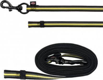 8f5773b692770c Trixie Smycz treningowa Sporting Fusion czarno-żółta r. S–L: 1.00 m
