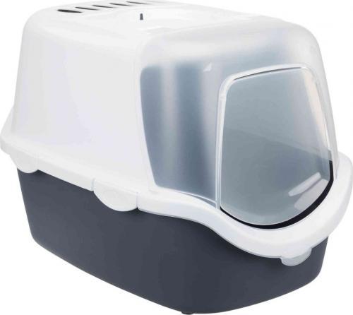 Trixie Kuweta kryta Vico Open Top, 40 × 40 × 56 cm, czarno/biała (TX-40341)