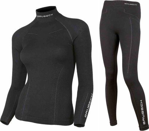 Brubeck Komplet bielizny damskiej Extreme Wool czarny r. L (KP10190)