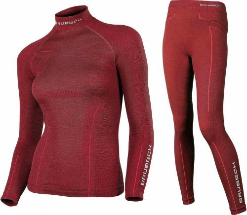 Brubeck Komplet bielizny damskiej Extreme Wool burgundowy r. L (KP10190)
