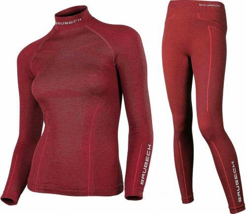 9fb92bf2f0 Brubeck Komplet bielizny damskiej Extreme Wool burgundowy r. L (KP10190)