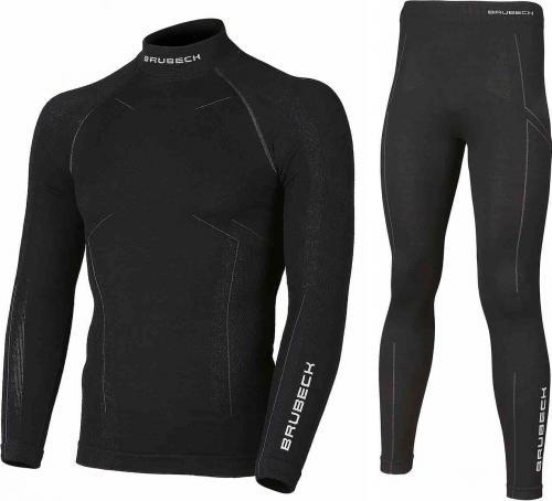 Brubeck Komplet bielizny męskiej Extreme Wool czarny r. XXL (KP10180)