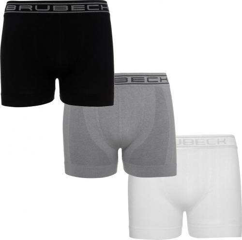 Brubeck Bokserki męskie zestaw 3 szt. Classic Comfort Cotton biały/szary/czarny r. XL (BX00501A)