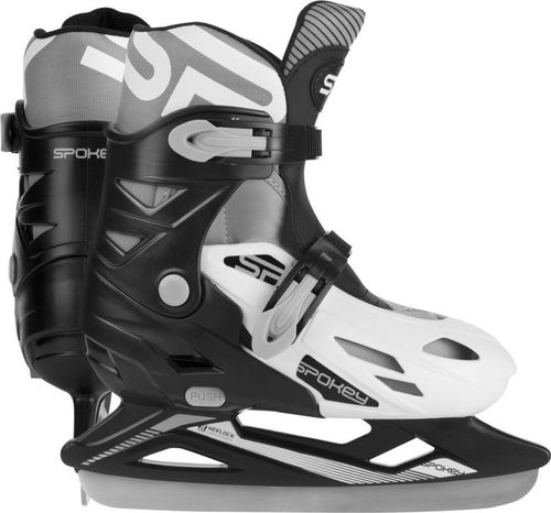 Spokey Łyżwy hokejowe regulowane Ripple czarno-białe r. 31-34 (924236)