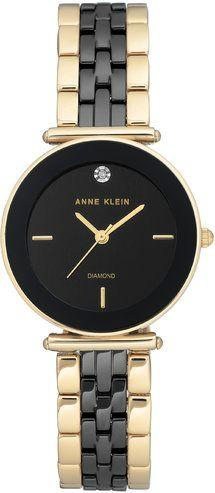 Zegarek Anne Klein AK/3158BKGB Diamond Ceramic Gold and Black damski