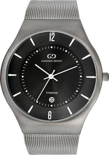 Zegarek Giacomo Design GD12002 Slim męski srebrny