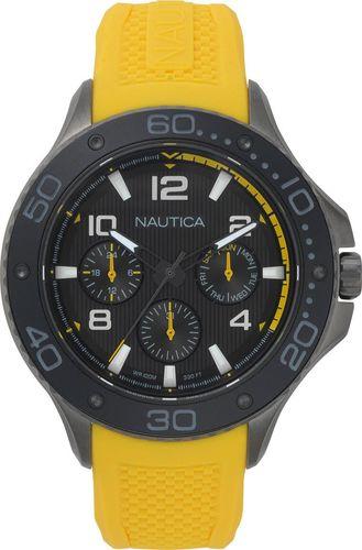 Zegarek Nautica Pier 25 NAPP25003 męski żółty