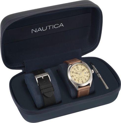Zegarek Nautica Battery Park NAPBTP009 męski brązowy