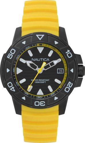 Zegarek Nautica Edgewater NAPEGT004 męski żółty