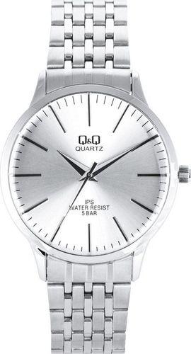 Zegarek Q&Q QZ16-201 Klasyczny męski srebrny