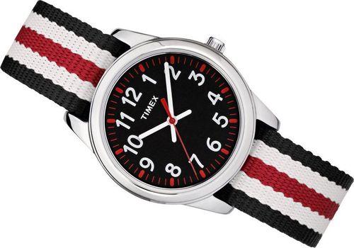 Zegarek Timex TW7C10200 Youth Analog Metal unisex czarno-biały