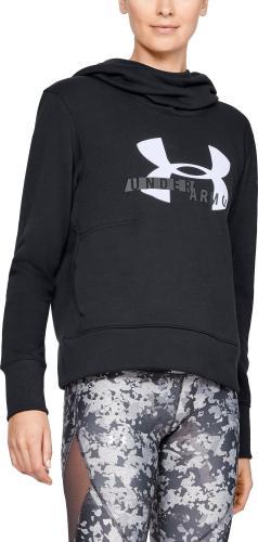 Under Armour Bluza damska Cotton Fleece Sportstyle Logo hoodie czarna r. S (1321185-001)