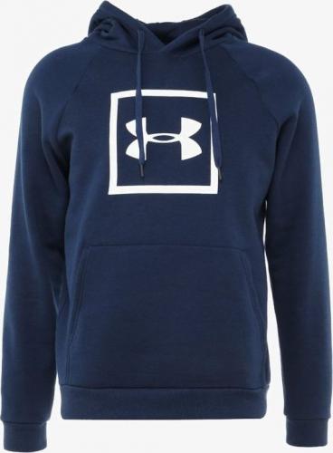 Under Armour Bluza Rival Fleece Logo Hoodie 1329745-408 - granatowa, rozmiar L