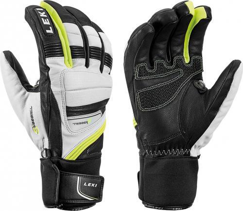LEKI Rękawice Griffin Prime S czarno-białe r. 7.5