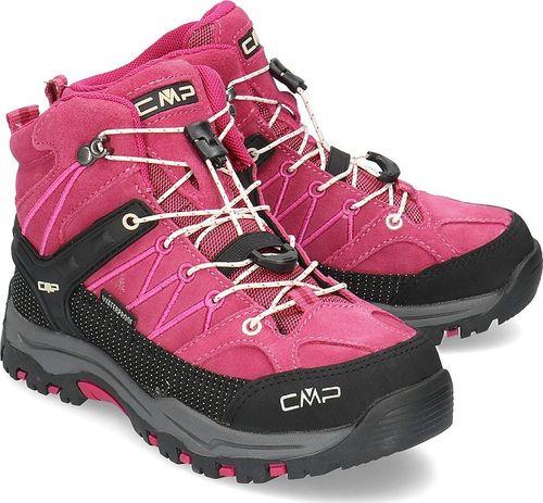 Campagnolo (CMP) dziecięce buty trekkingowe Rigel Mid WP geraneo-off white r. 35